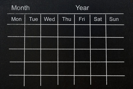 grid: month calendar grid concept Stock Photo