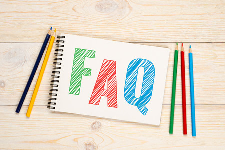 frequently asked question: FAQ, frequently asked question with colorful pencils concept