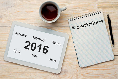 meses del año: 2016 half year months and resolutions concept