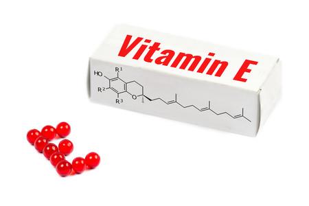 doctoral: vitamin e box Stock Photo