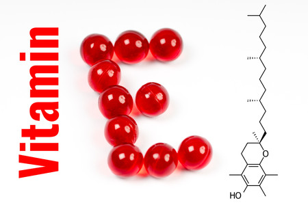 vitamin e, capsules with chemical structure