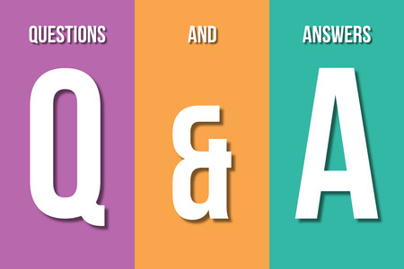 qa: Q&A, questions and answers concept