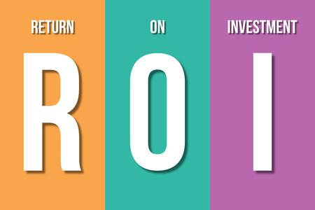 ROI, concept de retour sur investissement Banque d'images - 76552456