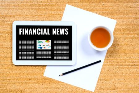 financial news online, businessman work place concept