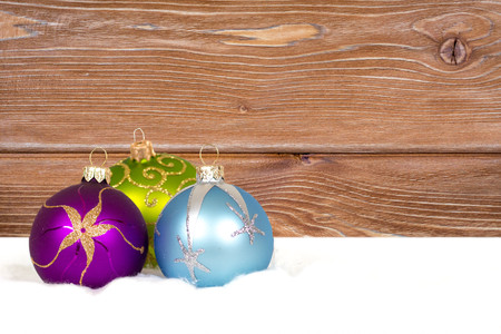 christmas decorations composition on wooden background Zdjęcie Seryjne