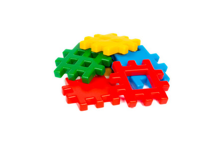 Various color kids plastic building blocks