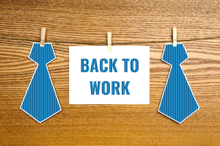 back to work, greeting card for men