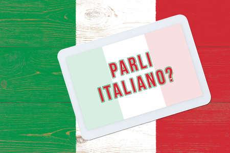 parli italiano - do you speak Italian, question in italian language