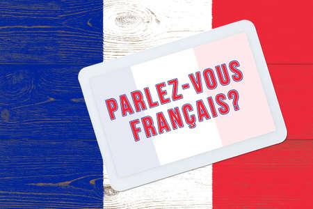 parlez-vous francais - do you speak french, question in french language Archivio Fotografico