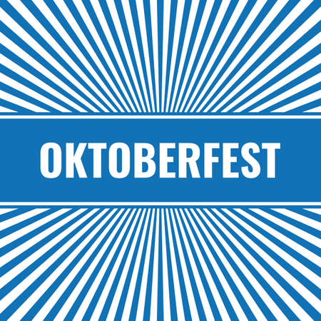 simple oktoberfest card with radial rays Stock Illustratie