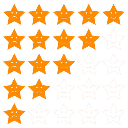 star shaped client satisfaction rating