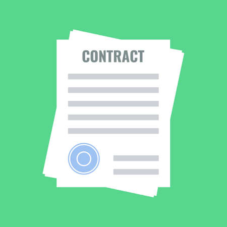 contract, flat design