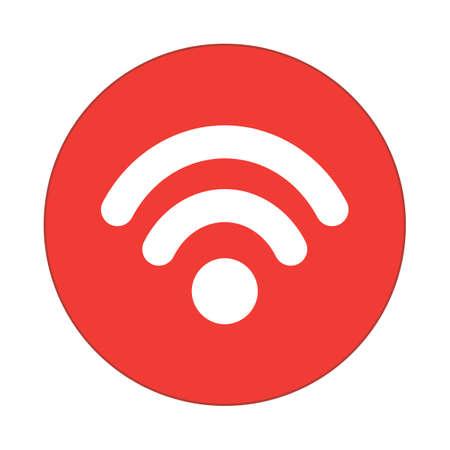 wifi, round flat icon Ilustrace