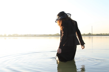 enigmatic: enigmatic girl in water