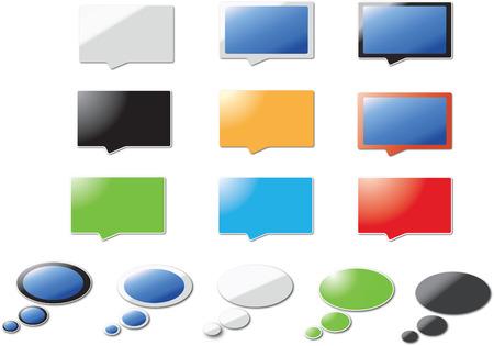 Modern speech bubbles Illustration