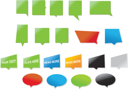 Modern speech bubbles, designed for both web and print.  Vector