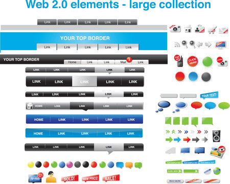 Web 2.0 elements - large collection