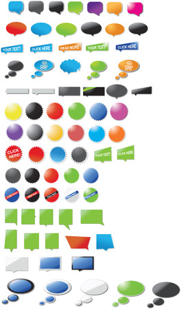 Huge collection of modern designed speech bubbles and stickers Stock Vector - 6527139