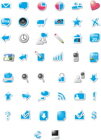 Web 2.0 icons Vector