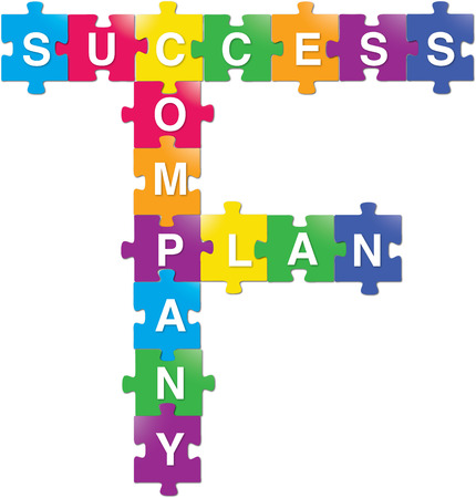 puzzle people: Success - Company - Plan Illustration