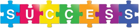 puzzle pieces: Erfolg Illustration