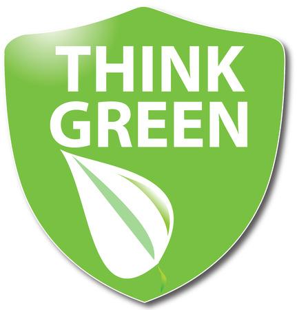 current affairs: Think green Illustration