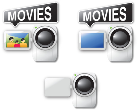 Video cam icons Illustration