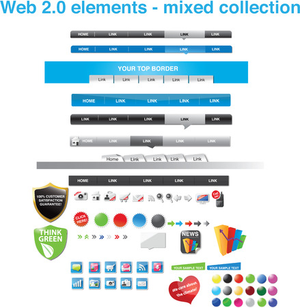 Web 2.0 elements - mixed collection