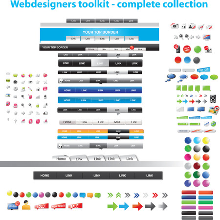 button: Webdesigners toolkit - complete collection
