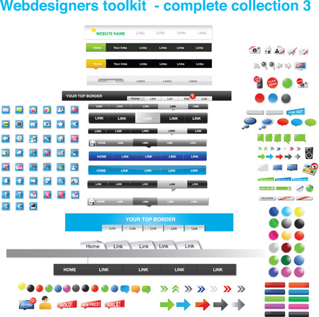 Webdesigners toolkit - complete collection 3 Stock Vector - 6562652