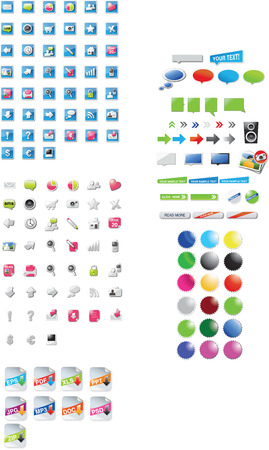 Large collection of icons and graphics