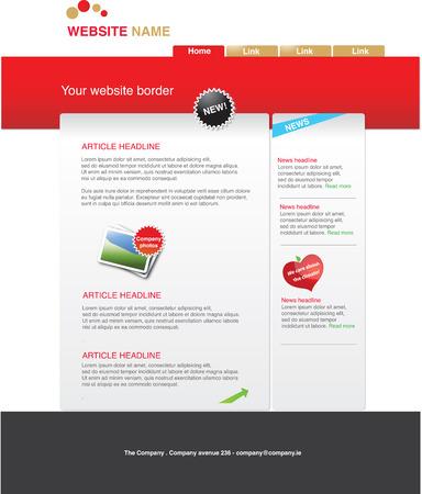 Web 2.0 template Illustration