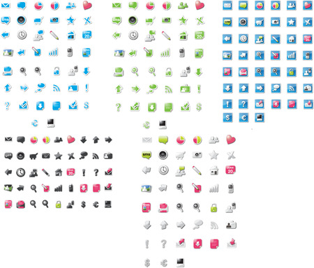 Huge collection of icons Stock Vector - 9755605