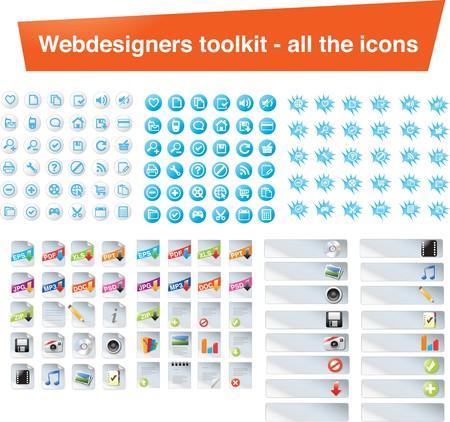 artistic designed: Huge icon set