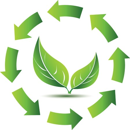 think green: Recycle symbol