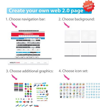 Web 2.0 graphic pack