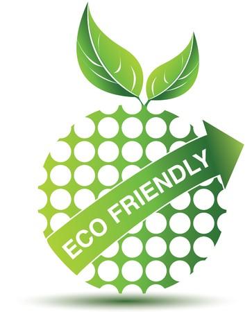 earth friendly: Icono ambiental