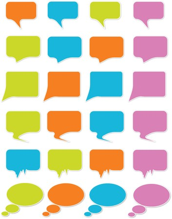 speeches: Speech bubbles Illustration