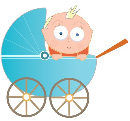 Baby in wagon