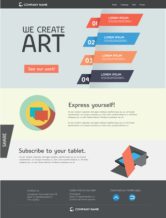 artistic designed: Web template