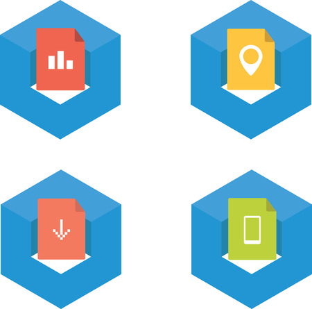 Cube icons Vector