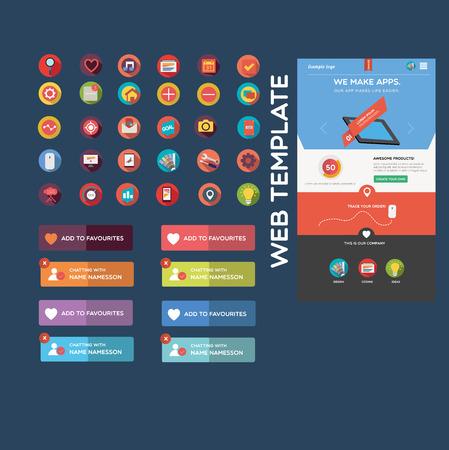 Flat web graphics Vector
