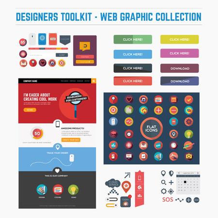 ui design: Flat web graphics