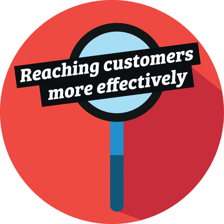 Reaching customers more effectively Vector