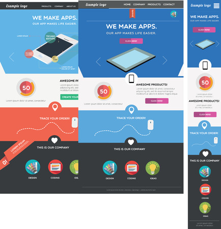 Responsive web template Illustration