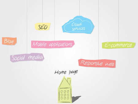 Paper cutouts - internet marketing