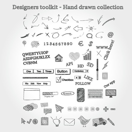 pencil: Designers toolkit - Hand drawn collection