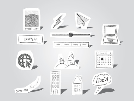 Símbolos de recortes de papel