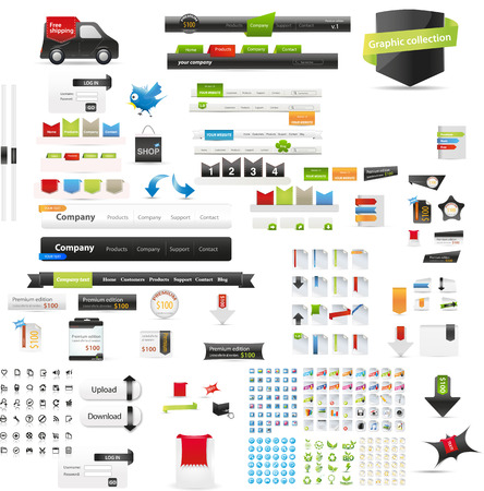 web icons: Web graphics
