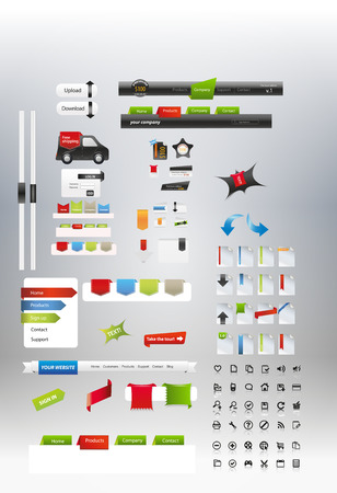 glas: Web graphic collection Illustration